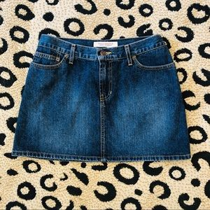 Abercrombie and Fitch denim mini skirt. Size s/m